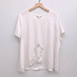 Forever 21+ Plus Size White Blouse - Size 2X